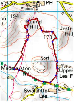 SP386 389 walk map