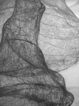 Imagined Lines (thread and wire)