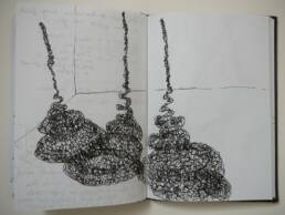 Imagined Lines (thread and wire) - sketchbook