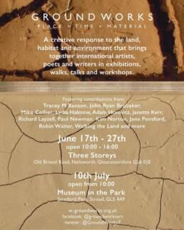 Ground Works Exhibition Flyer