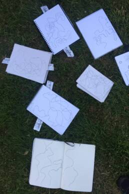 drawing in the park